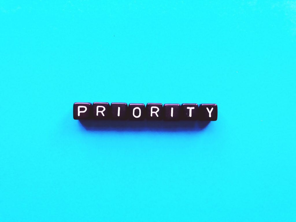 Change your priorities to deal with stress