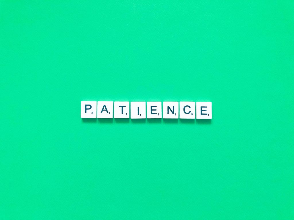 build mental resilience by showing patience